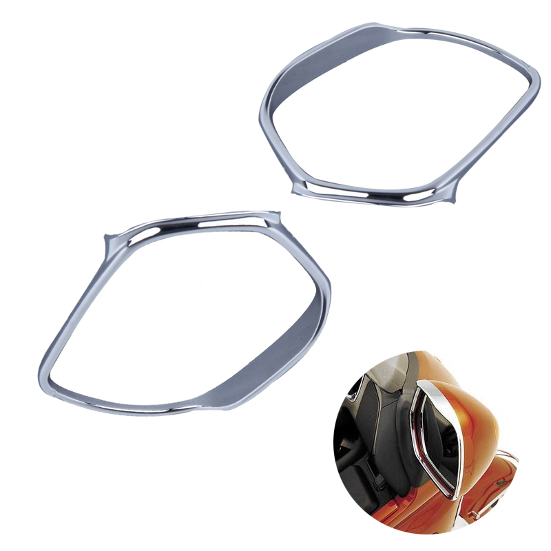 Motorcycle Mirrors Trim Decoration For Honda GOLDWING GL1800 2001-2011 high quality Motorbike Chrome new chrome motorcycle rear passenger armrests for honda goldwing gl1800 2001 2017 16 15 14 13 12 11 10 09 08 07 06 05 04 03 02