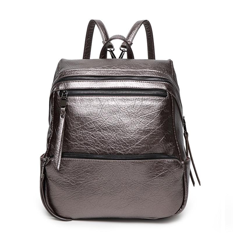 2017 new leather shoulder bag big bag Korean female fashionable casual backpack bag female models