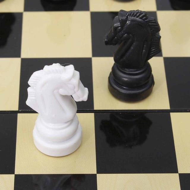3 en 1 jeu d'échecs en plein air voyage échecs Backgammon pour développement intellectuel 6