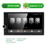 Octa-core Android7.1 2 GB RAM 32 GB ROM Doppel-din Auto Radio GPS Navigation in Dash Stereo Video Auto Multimedia Audio FM Headunit