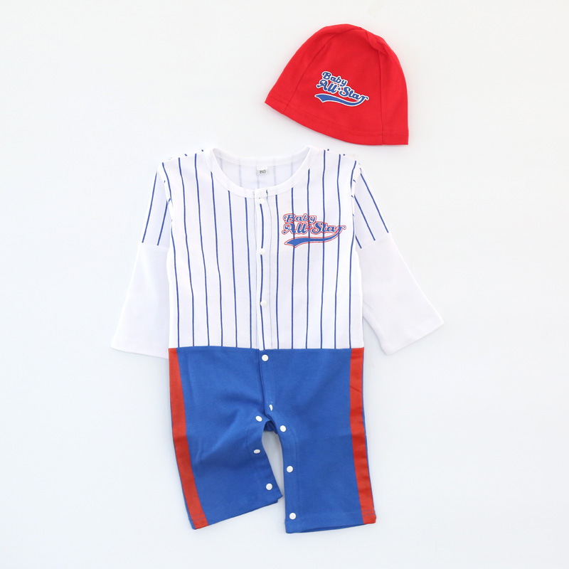 17 European and American children sports qiu dong ha clothing + hat climb clothes jumpsuit autumn sell like hot cakes