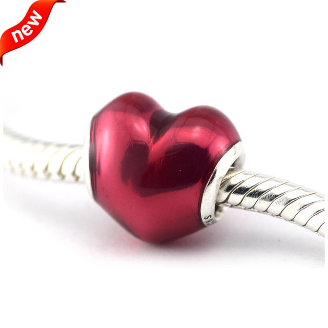 Red Heart Charm Fits For Pandora Bracelets 100 925 Sterling Silver Beads In My