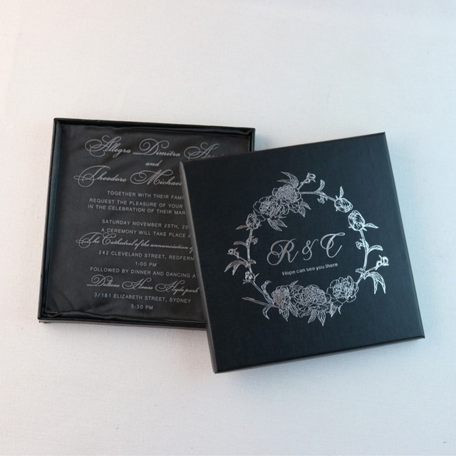 50 personalized engraved acrylic wedding invitation cards for free