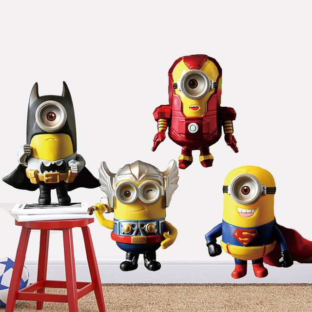 Avenger Union Despicable Me 2 Wallpaper For Kids Rooms Home Decor Art Decals ChildrenS Room Decoration