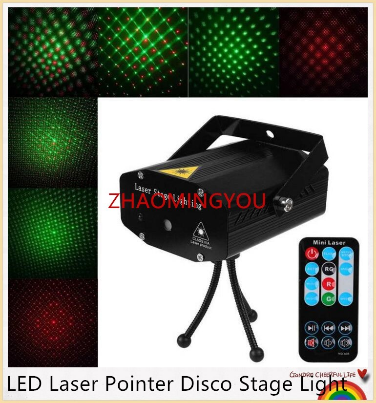 100% Quality Yon 10pcs Mini Led Laser Pointer Disco Stage Light Party Pattern Lighting Projector Show Ir Remote Rg Laser Projector Lights