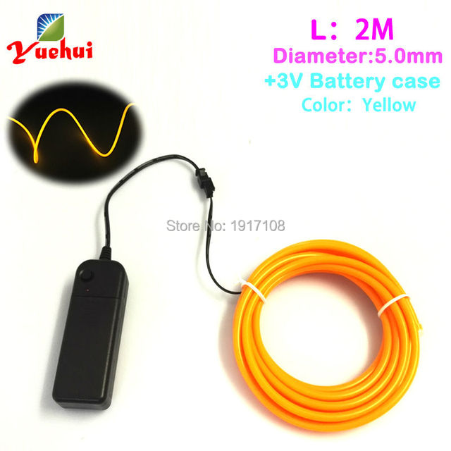 Fashion DC 3V Controller With 2Meter 5.0mm EL Wire Flexible Neon ...