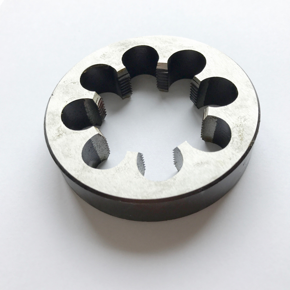 Free Shipping 1PC 9SiCr Steel Made M37*1.0/1.5/2.0mm Round Die For Steel Iron Aluminum Copper Workpiece Threading DIYER Maker