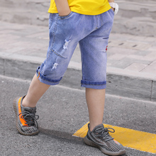 Feiluo Kids trousers Pant Fashion boys Jeans Children Boys Hole Jeans Kids Denim Pants Baby Jean Infant Clothing toddler jeans boys multicolor patched detail jeans