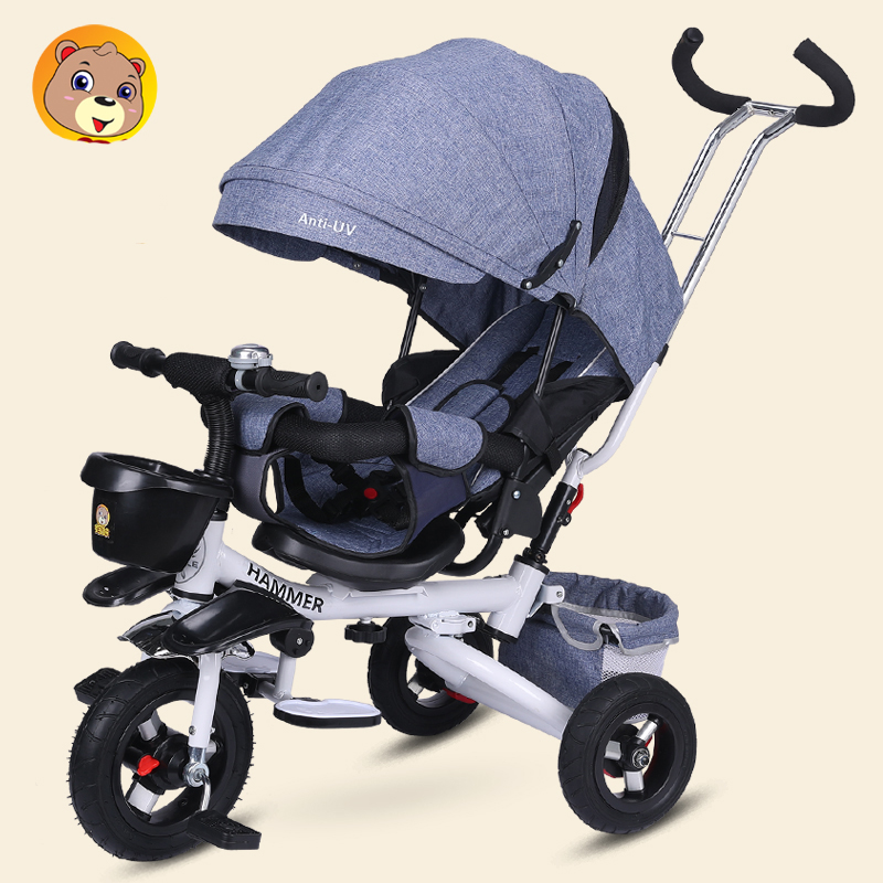 Folding baby child tricycle reclining baby stroller bicycle 1-2-3 round 6 years old bicycle bicycle nutrient management strategy on groundnut