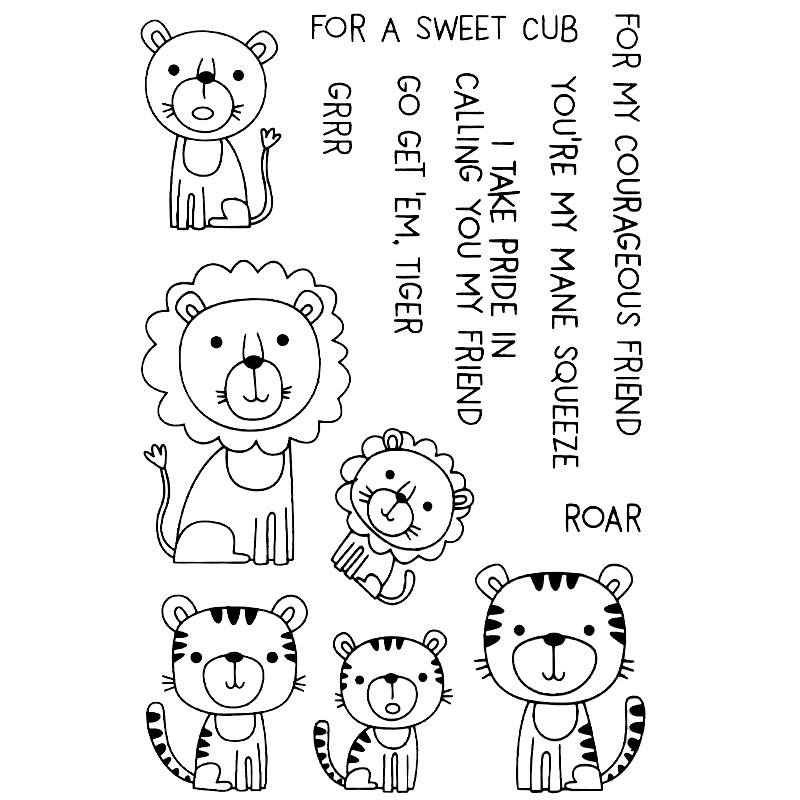 FOR A SWEET CUB FOR MY COURAGEO Scrapboo