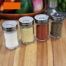 kichen glass spice bottle set condiment bottles spice jar pepper powder bottle seasoning box set