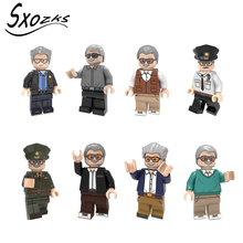 Sxozks Single hot sale Toy assembling building blocks characters commemorating Lee Model decoration Children's brain toys JM-42