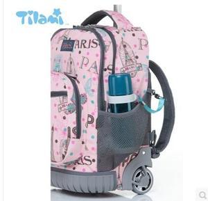 Image 3 - Kids Rolling Luggage Backpacks Kid School Backpacks with wheels kid suitcase children luggage Wheeled backpacks bag for school