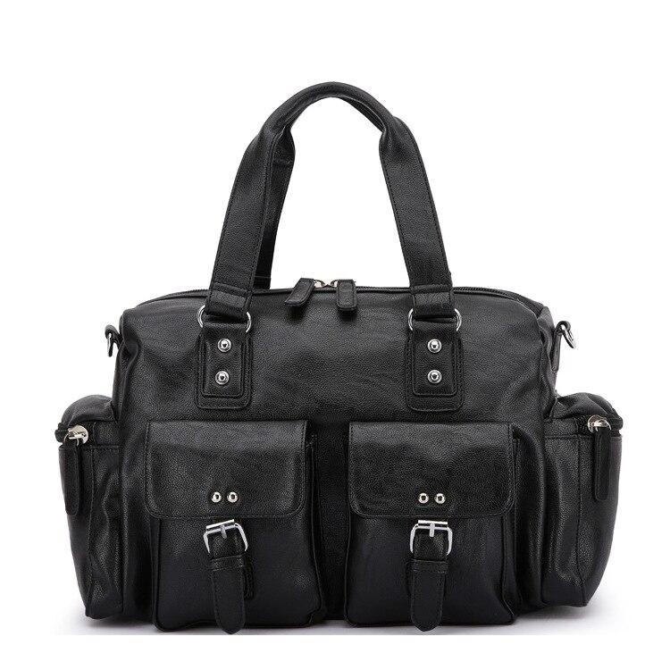 2019 Neuer Stil Neue Mode Leder Reisetaschen Luxus Männer Große Kapazität Portable Männlichen Schulter Taschen Männer Handtaschen Vintage Reise Duffle Tasche