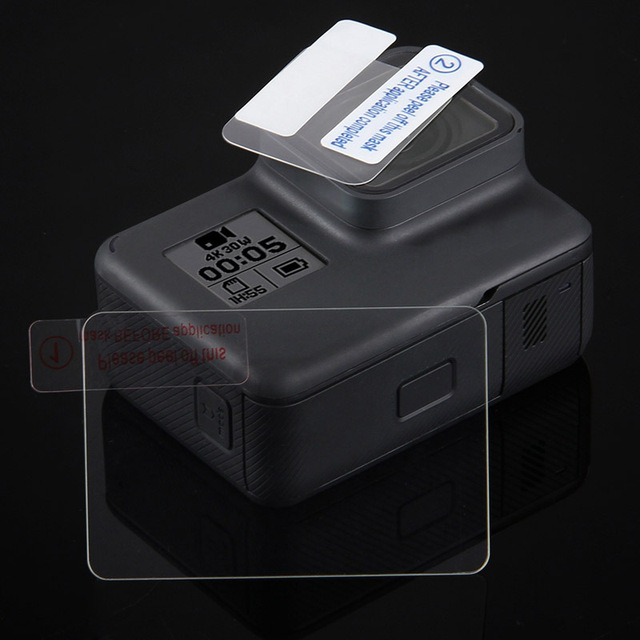 New Tempered Glass Protector Cover Case For Go Pro Gopro Hero 5 6 7 8 Hero8/7 Blcak Camera Lens Cap LCD Screen Protective Film 4