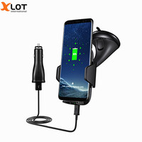 10W Fast Charge Qi Wireless Charging Pad For Samsung Galaxy S8 S8 Plus Car Charger Air