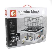 2017 New Sembo SD6900 1116pcs LED Blocks City Apple store Building Kits Blocks Bricks Compatible Toys Gift