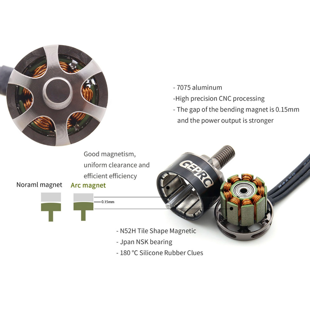 4pcs RC Motor GR1408 3500KV Brushless Motor 4S High Power for 130mm FPV Racing Quadcopter RC Drone 4pcs se1104 kv4000 kv6000 kv7500 brushless motor with 2pairs 2035 2045 propellers for rc quadcopter fpv racing drone