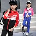 Conjuntos de roupas infantis primavera outono moda de nova terno esportes das meninas para 5 6 7 8 9 10 11 12 anos de idade garoto adolescente estudante
