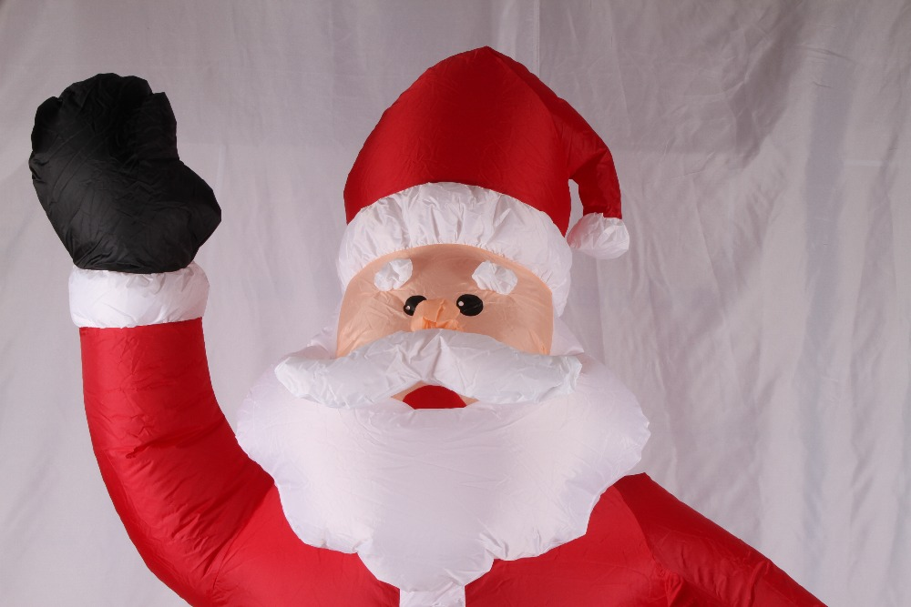 Vioslite m inflatable christmas santa claus black hand in