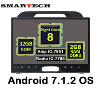 SMARTECH Eight Core Android 7 1 2 RAM 2G Fit KIA Sportage 2010 2014 Car Multimedia
