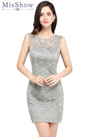 Simple Multiple Colors Sheath Silver Short Bridesmaid Dresses 2018 Elegant Mini Party Gown For Wedding Guest