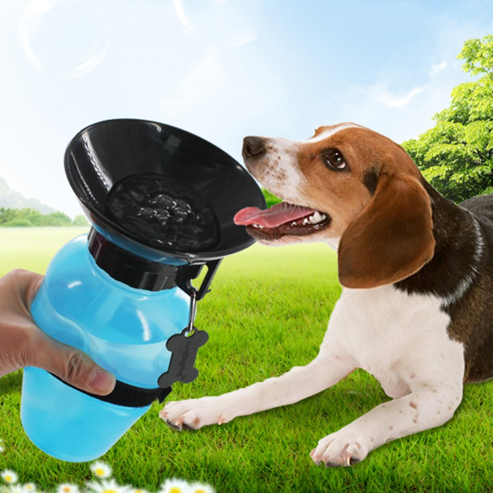 Creative 500ml Travel Outdoor Water Bottles Portable Dog Cat Drinking Water Bottle Outside Pet Puppy Feeder Squeeze Dispenser