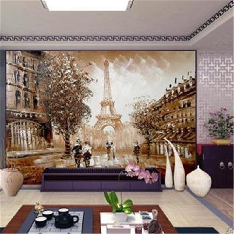 Seamless 3d stereoscopic wallpaper living room TVs