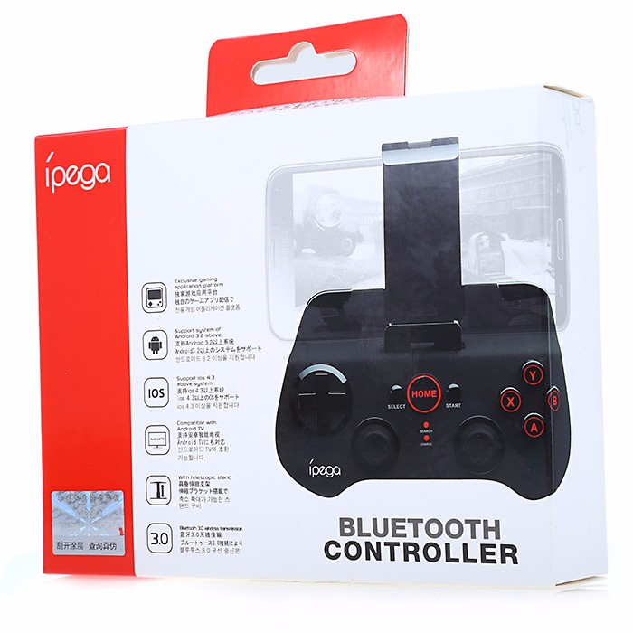 PG-9017S Wireless Bluetooth 3.0 Gamepad Game Console with Stand for Android / iOS / Android TV / PC Lowest Price