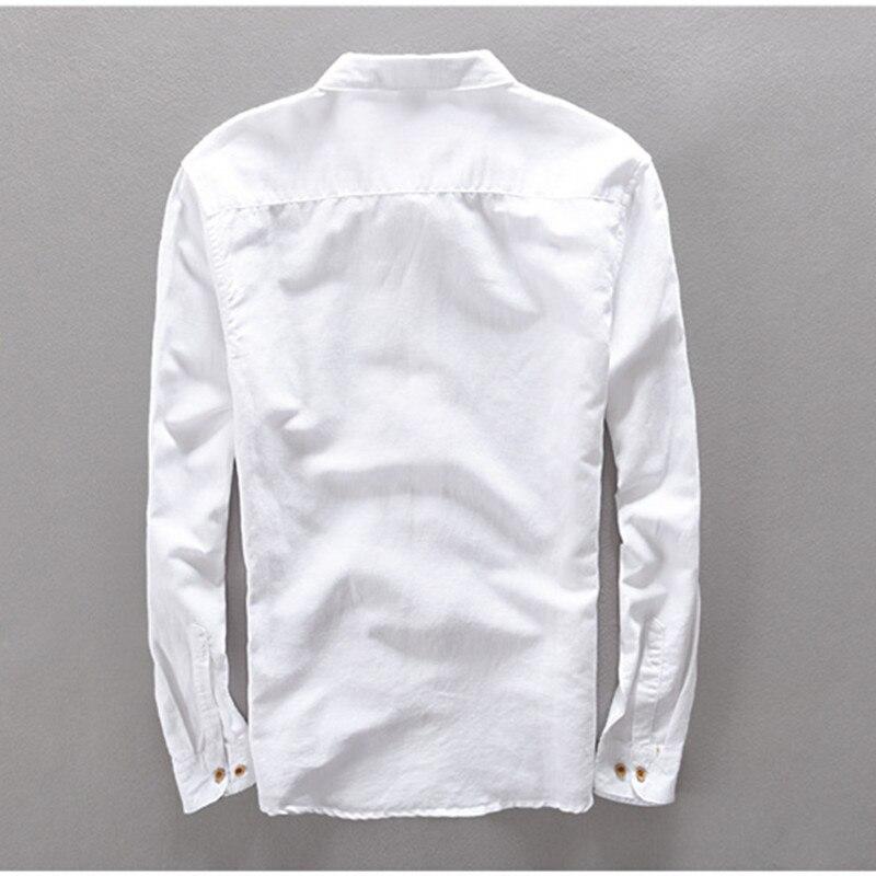 Suehaiwe's Premium Casual Linen Dress Shirt hommes à manches longues - Vêtements pour hommes - Photo 2