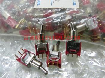 Taiwan SH import button switch unilateral reset model TS-6B-TE1R three  leg horizontal reset switch