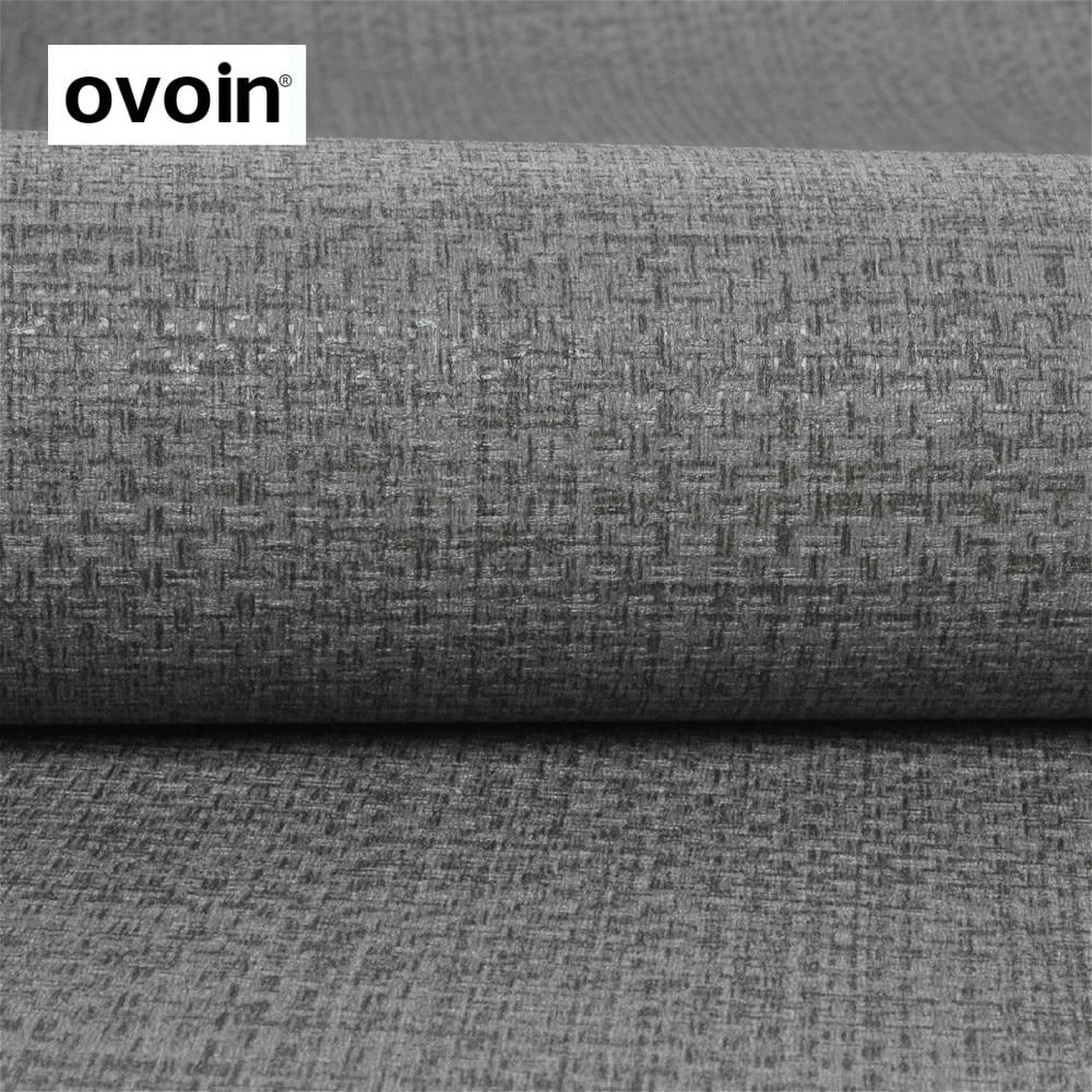 PVC Textured Grey Wallpaper Gray Modern Plain Wall Paper Roll For Walls Bedroom цена