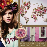 Vinnie Projekt Biżuteria 33mm Różowe Złoto Dahlia Posiadacz Monety i Deluxe Wisiorek Zestaw
