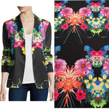 1.5 meter polyester printed fabric women suit coat fabric,flowers print windbreaker suit fabric, women Trench coat fabric(China)