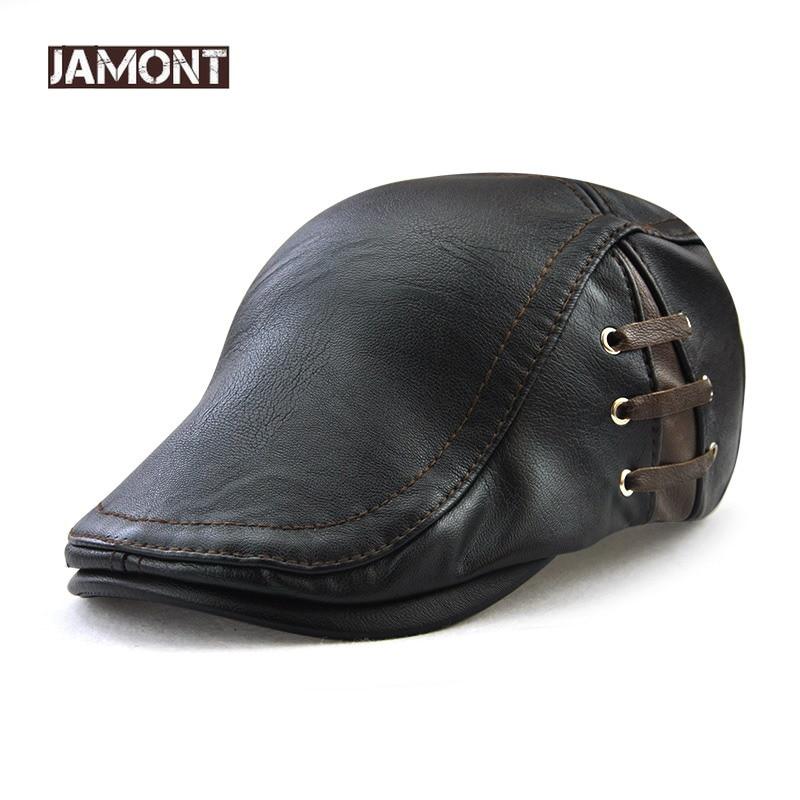 JAMONT Hat Caps Beret-Bandage Spring-Flat-Cap Warm Fashion Man Boina Casquette Side-Strap