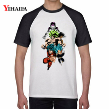 Newest Men Women T Shirts Cartoon 3D Dragon Ball Z Vegeta Saiyan Goku Graphic Tees White Anime Tee Tops Unisex T-shirt men women t shirts cartoon 3d dragon ball z geometric saiyan goku kid graphic tees white anime tee tops unisex t shirt