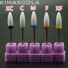 KIMAXCOLA 1pcs Pro. 3/32  Ceramic Nail Drill Bit Bullet nail file Art Tools Cleaner E-files