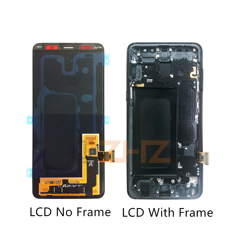 Super AMOLED For Samsung A8 lcd A530 2018 touch screen digitizer Assembly A530f A530N with frame screen replacement repair parts