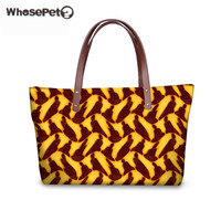 WHOSEPET Women Shoulder Bag African Traditional Printing Summer Beach Waterproof Bags For Girls Female Fashion Top handle Totes