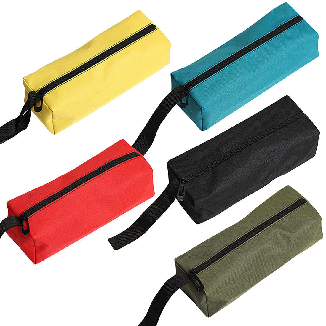 Portable Hand Tool Bag Oxford Canvas Waterproof Storage Screws Nails Drill Bit Metal Parts Bag Outdoor Travel Pouch Bag