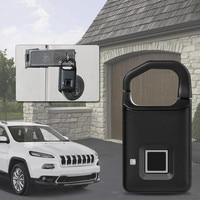Smart Keyless Biometric Fingerprint Door Lock Cabinet Drawer Locker Ip65 Mini USB Waterproof Locker Padlock For Home Bag Cargo