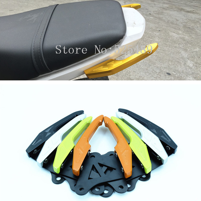 1 Pair 4 Color CNC Motorcycle Rear Grab Bars Rear Seat Pillion Passenger Grab Rail Handle Accessories For Honda Grom MSX125 / M3