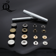 50pcs/lot 831 15mm Pack Metal Press Studs Sewing Button Snap Fasteners Sewing Leather Craft Clothes Bags,snap-fastener