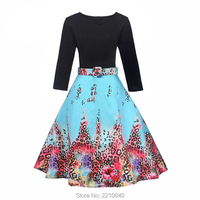 2017 Autumn Winter Maxi Dress For Woman Long Sleeve Evening Dress Belt Brand Design Printing Flower