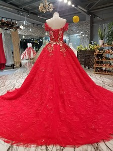 Image 2 - LS00411 1 red brides wedding party dress off the shoulder sweetheart beauty evening dress quick shipping china factory wholesale