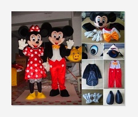BING RUI CO High-quality adult size  mascot costume and Minnie mascot costume, Halloween parties, birthday parties,