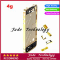 100% High Quality New Gold Plating Mid Middle Frame Bezel Housing Full Assembly for iPhone 4