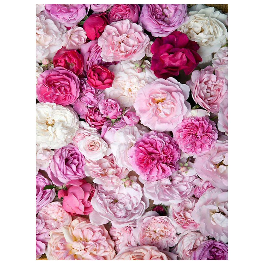 Top Deals 5x7ft Photography Backdrop Flower wall Pink White Valentine's Day baby shower children background photo studio photo image