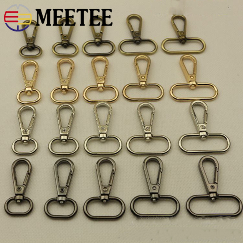 Meetee 5pcs 16/20/25/32/38mm Metal Dog Collar Carbiner Buckle Bag Handbag Strap Clip Hook Key Chain Diy Crafts Accessories F4-1 A Complete Range Of Specifications Apparel Sewing & Fabric Arts,crafts & Sewing