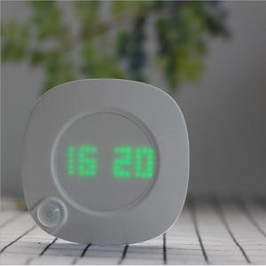 Image 4 - Motion Sensor Night Light With Clock Battery Power PIR Sensor Two Lighting Color Adjustable Brightness Magnet Night Lamp